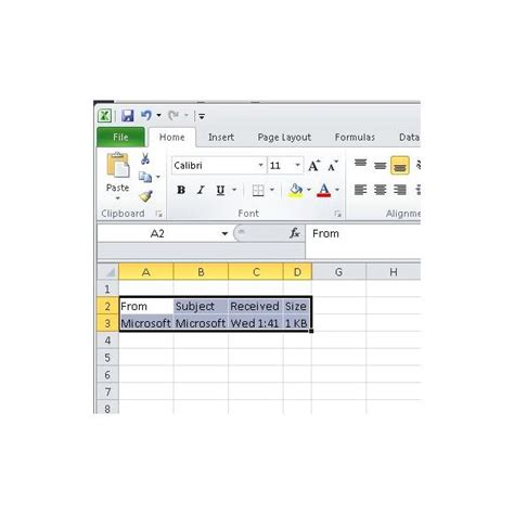 how to insert outlook email into excel 2013 insert an