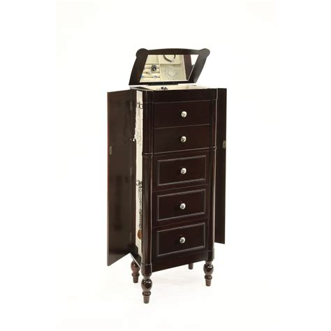 standing jewelry armoire hives honey espresso standing jewelry armoire