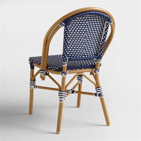 Navy Bistro Chairs Navy Kaliko Bistro Chairs Set Of 2 World Market