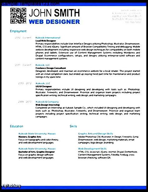 resume template open office sle templates