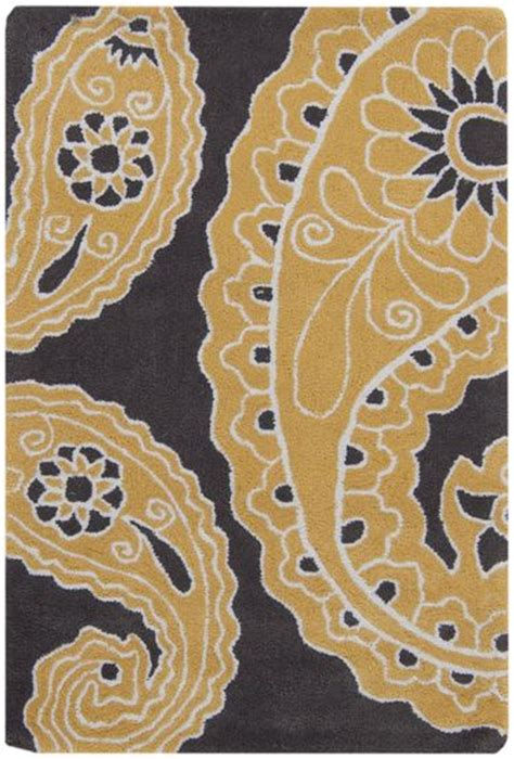 paisley print rugs large scale paisley print rug in gold white and charcoal gray from the hudson park collection