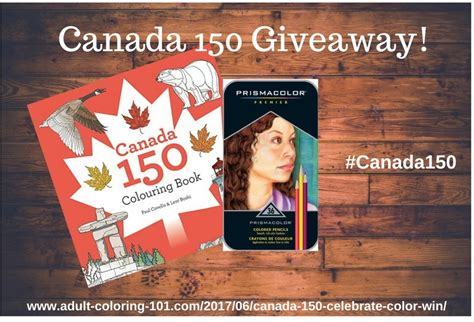 Book Giveaways Canada - canada 150 adult coloring book giveaway
