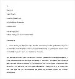 Thank You Letter Template For Letter Of Recommendation Sle Thank You Letter For Recommendation 9 Free Documents In Pdf Word