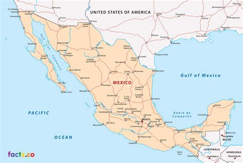 road map mexico mexico map highways
