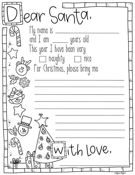 letter santa coloring page etsy