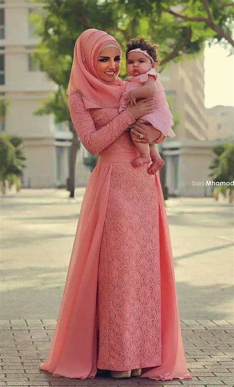 Setelan Muslim Syarii Pink 2016 muslim evening dresses a line sleeves pink lace beaded islamic dubai abaya