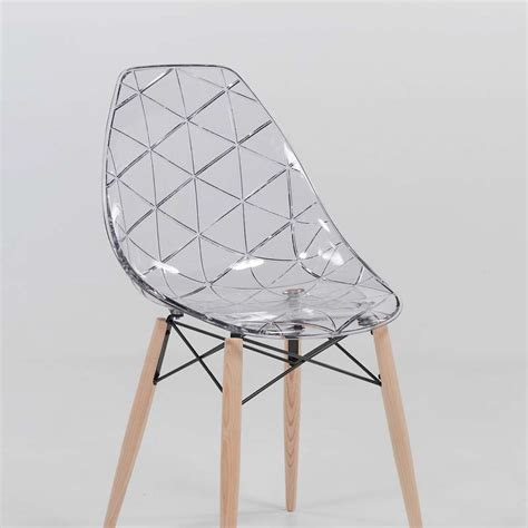 Chaise Desig by Chaise Design Coque Transparente Et Bois Prisma 4