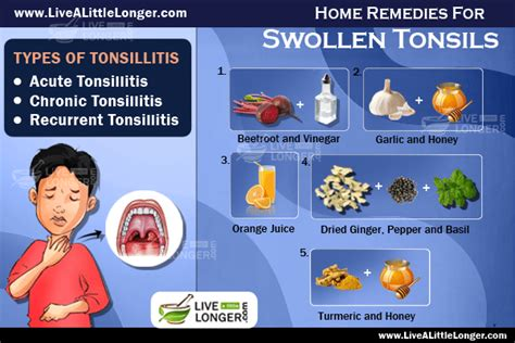 ways to cure swollen tonsils live a longer
