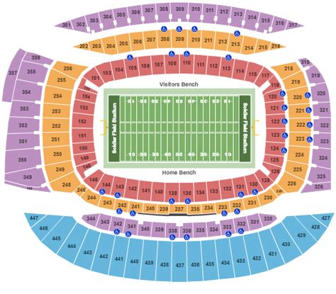 bay bears stadium seating beyonc 233 chicago tickets seating chart soldier field