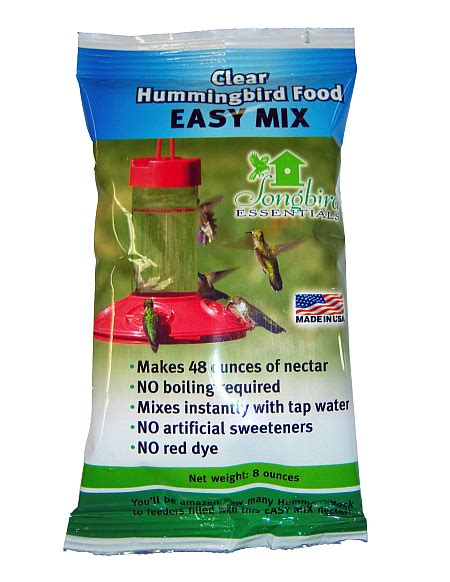 easy mix hummingbird nectar clear 8 oz 6 pack