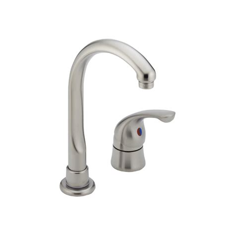 delta waterfall kitchen faucet shop delta waterfall stainless 1 handle kitchen faucet at lowes