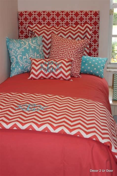 coral chevron bedding coral and tiffany blue bedding www imgkid com the