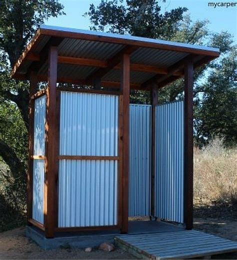 how to make an outdoor bathroom outdoor shower stall a guide to building and outdoor