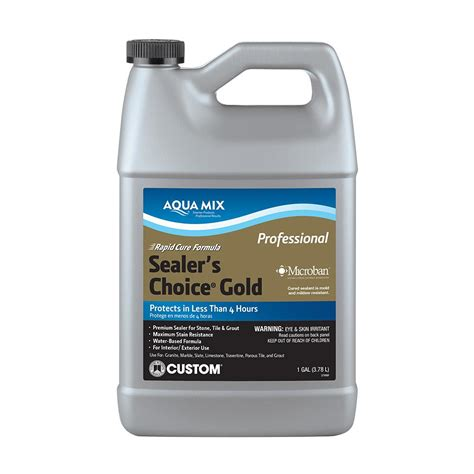 bathroom grout sealer custom building products aqua mix sealer s choice gold 1