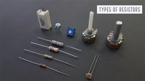 mini projects using resistors and capacitors types of resistors potentiometer varistor rheostat