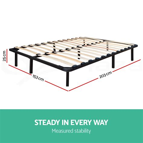 metal bed base queen metal bed base frame size timber slat support