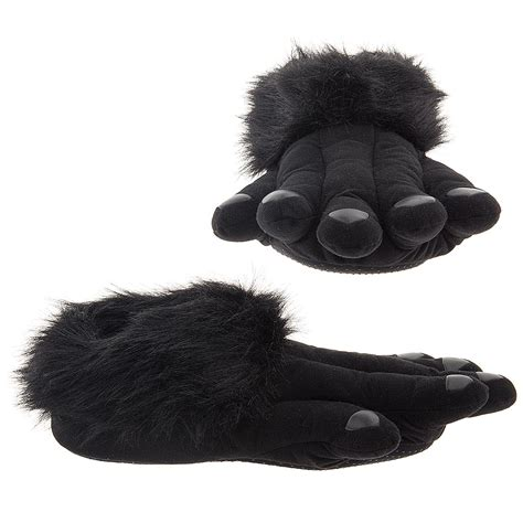 crazy house shoes gorilla slippers fun black gorilla feet slippers for adults
