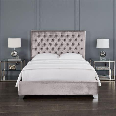 velvet queen bed kroma grey velvet queen bed xcella
