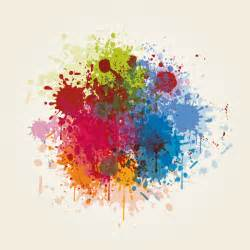color graphics splashed colors vector graphic