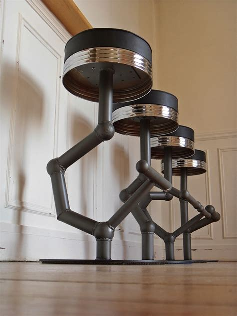 Mid Century Style tabouret industriel metal style and steel jpg chaises