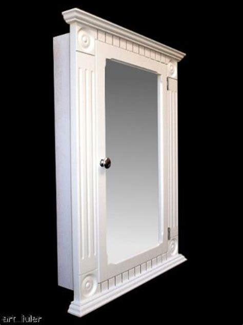recessed white medicine cabinet rosette classic style ebay