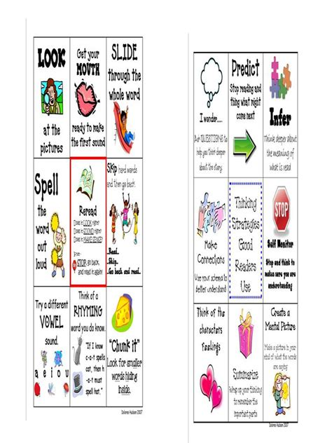 printable good reader bookmarks 7 best images of printable reading strategies bookmarks
