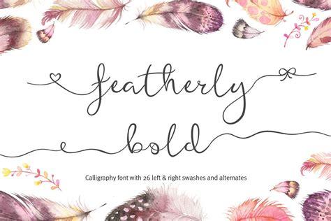 Wedding Font Bundle by Featherly Bold Font Wedding Font By J Font Bundles