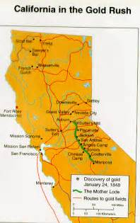 map of california gold deboomfotografie