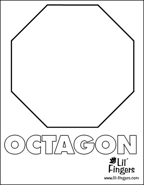 Free Coloring Pages Of Octagon Shape Octagon Coloring Page