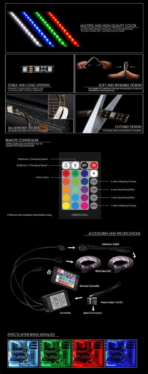 led rgb light rgb color led deepcool cooling accessory