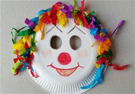 Clown Paper Plate Craft - clown mask from paper plate costumes paper