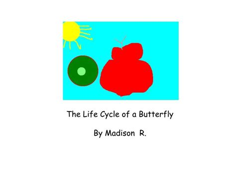 ppt the life cycle of ladybugs powerpoint presentation ppt the life cycle of a butterfly by madison r