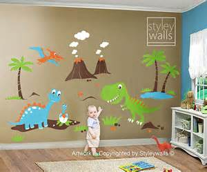 dinosaurs wall decals dino land wall decal dinosaurs