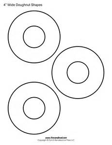 Donut Template by Printable Donut Templates Blank Doughnut Shapes