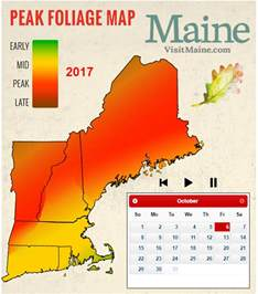 Fall Foliage Map New England by 2017 New England Fall Foliage Forecast New England Today