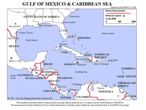 map of gulf of mexico gulf of mexico and caribbean sea mexico reliefweb