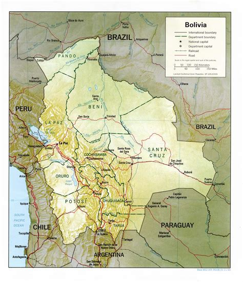 map of bolivia nationmaster maps of bolivia 7 in total