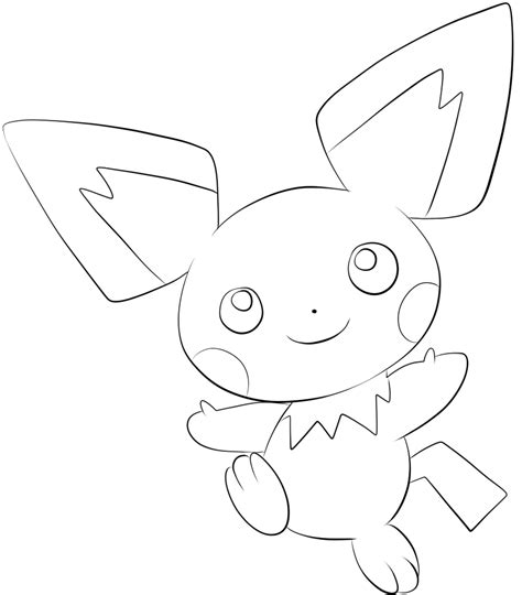 pichu coloring pages coloring pages