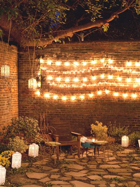 lighting for backyard photos hgtv