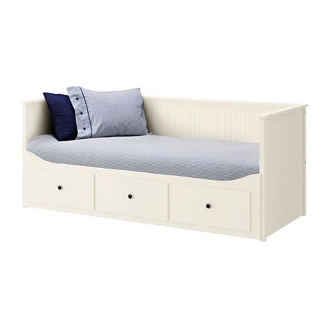 Ikea Daybed With Trundle And Drawers Hemnes Daybed With 3 Drawers 2 Mattresses White