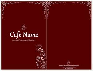 Menu Templates Word Free by Cafe Menu Template Format Template
