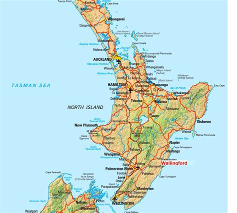 printable road map north island new zealand pin by mary cox on maps pinterest