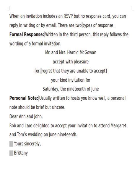 formal invitation wedding letter 16 formal invitation letters sle templates