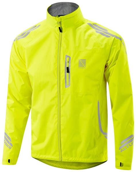 hi vis cycling jacket altura vision mens waterproof cycling jacket hi vis