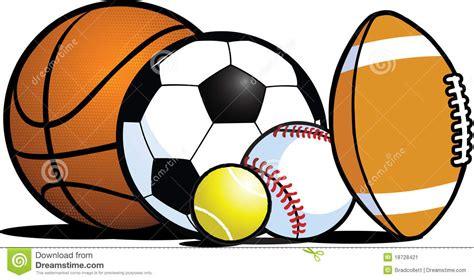 all free clipart sports balls clipart