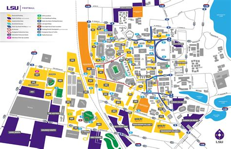 lsu football parking map 2017 lsu football parking map lsusports net the