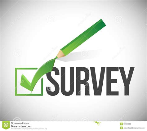 Free Survey - survey checkmark and pencil illustration royalty free stock image image 30637726