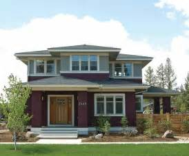 Prairie Style Homes by Prairie Style House Plans Craftsman Home Plans