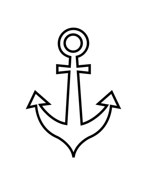 anchor free colouring pages