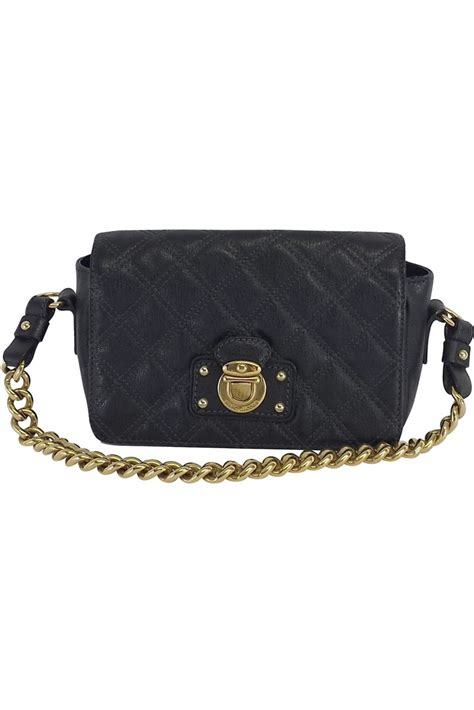 Marc Bonnie Quilted Leather Handbag by Marc Black Quilted Leather Handbag Current Boutique